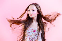 Windy hairs Stock Photography