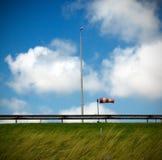 Windy highway. Dutch highway, Haringvlietdam (Hellevoetsluis), Netherlands royalty free stock images