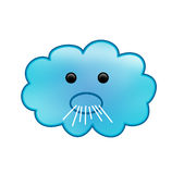 Windy Icon. Windy clouds are your friends Royalty Free Stock Image