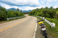 Windy island road on a motorcycle adventure around Palawan Royalty Free Stock Image