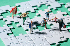Windy jigsaw Stock Photography