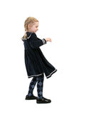 Windy little girl Royalty Free Stock Image