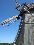 Windy mill in Dududki in Belarus Royalty Free Stock Photos