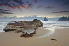 Windy morning at Narooma coast Royalty Free Stock Images