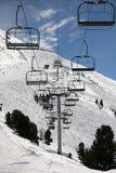 windy na nartach krzesło Zdjęcie Stock