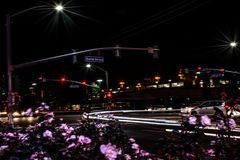 Windy Night Busy City Road Photos libres de droits