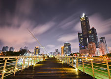 Windy night in Kaohsiung Stock Images