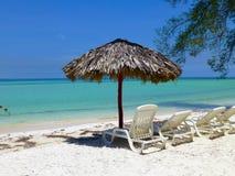 Paradise beach in Cuba stock image