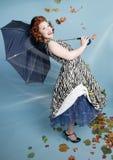 Windy Pinup Girl stock image