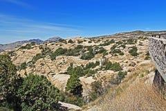 Windy Point Vista auf Mt Lemmon Stockbilder