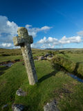 Windy Post Cross Dartmoor. Stock Photography