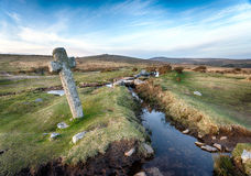 Windy Post on Dartmoor Royalty Free Stock Image