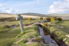 Windy Post Dartmoor National Park photos libres de droits