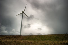 Windy power station. In Germany in the storm Royalty Free Stock Photo