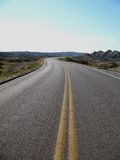Windy Road. In South Dakota Royalty Free Stock Image