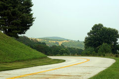 Windy Road. A winding road with a beautiful view Royalty Free Stock Photo
