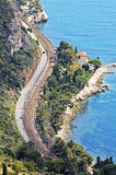 Windy Road In French Riviera Royalty Free Stock Photo