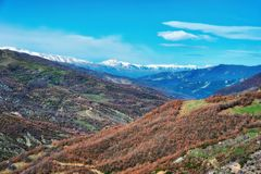 Windy Road nelle alpi albanesi Immagine Stock Libera da Diritti