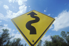 Windy road sign Royalty Free Stock Photos