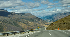Windy road to Queenstown Stock Photo