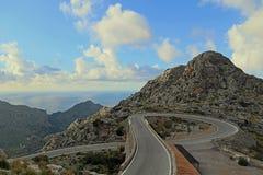 Windy road to Sa Calobra Royalty Free Stock Photo