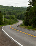 Windy Roads in Cape Breton. A view of windy roads in Cape Breton in the summer months. There is space for text Royalty Free Stock Photo