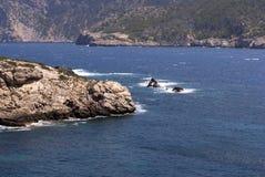 Windy rocky coastline Stock Photography