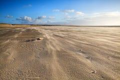 Windy sand beach in Ijmuiden Stock Photography