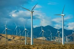 Windy Spot Wind Turbines Royalty Free Stock Photo