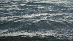 Windy stormy sea surface waves stock footage