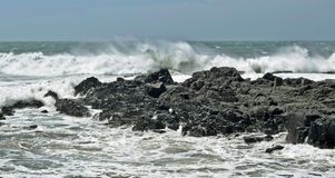 Windy tide Royalty Free Stock Photography