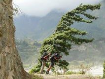 Windy valley of Kali Gandaki, Nepal Stock Images