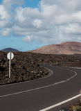 Windy Volcanic Road Royalty Free Stock Photography