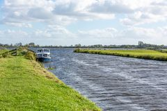 Windy water landscape of the Kagerplassen stock images