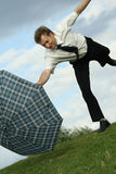 Windy weather Stock Photography