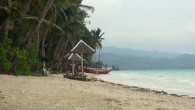 Windy weather on the beach.. Stock Photos