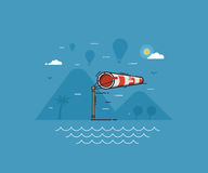 Windy Weather Concept Illustration Royalty Free Stock Photography