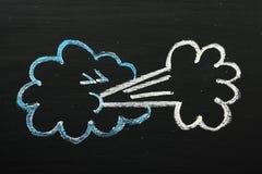 Windy Weather Symbol Fotografía de archivo