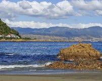 Windy Wellington kust-nieuw Zeeland Royalty-vrije Stock Afbeelding