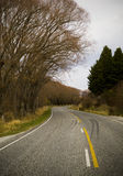 Windy Winter Road Royalty Free Stock Images