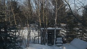 Windy Winter Wonderland i Alaska arkivfilmer