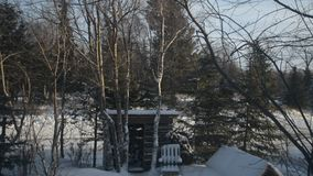 Windy Winter Wonderland i Alaska stock video