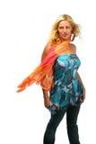 Windy woman's portrait Stock Photos