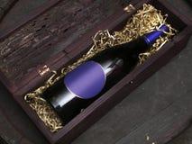 Wine 01. Bottle of wine Stock Photography