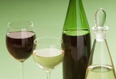 Wine. A dessert wine with glass Royalty Free Stock Photography