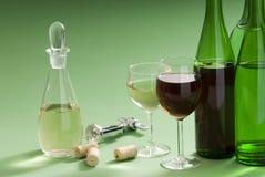 Wine. A dessert wine with glass Stock Image