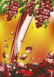 Wine. Grapes and wine,  illustration Stock Photo
