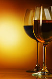 Wine. The big glass of wine on a dark background Royalty Free Stock Photos
