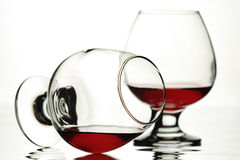 Wine. Two glasses with red wine Stock Images