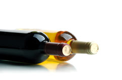 Wine. Bottle of wine on a white background Royalty Free Stock Photos